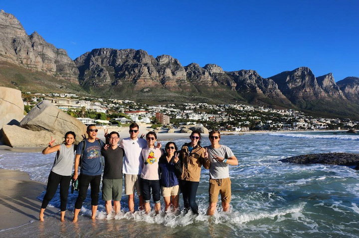 Camps Bay, Cape Town.  A moment unimaginable—South Africa Spring Break Trek 2016. (Photo credit: Ria Tobaccowala)