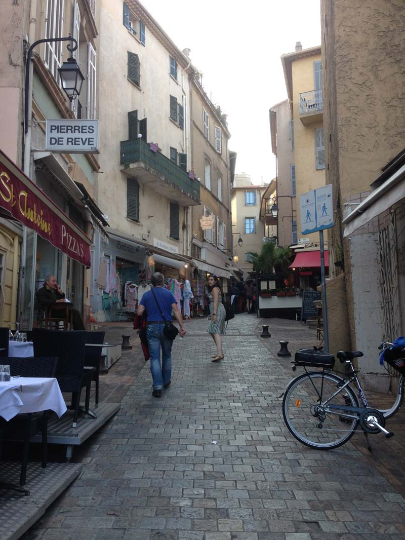 On our way to group dinners with the professors in Le Suquet, the Old Town of Cannes.