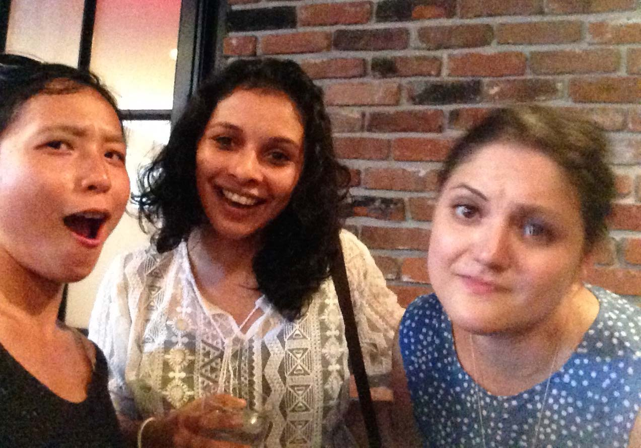 To show our friend that her new MBA1 roommate (center) was being cooler than she.