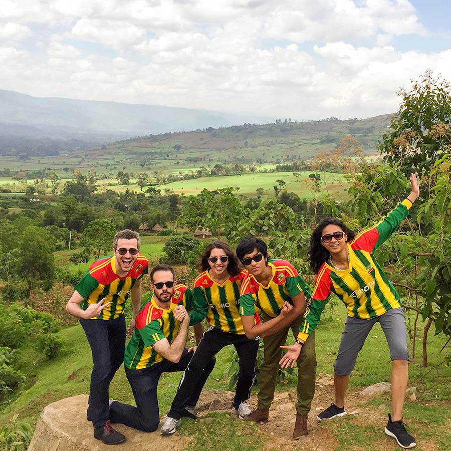 The SSP group stops for a photo op on the way from Hawassa to Addis Ababa, Ethiopia's capital.